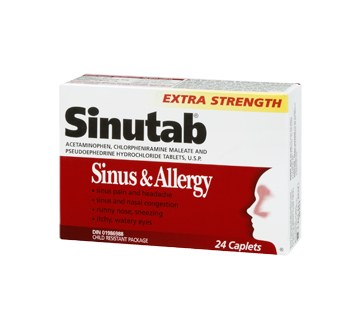 Picture of SINUTAB SINUS ALLERGY CONGESTION PAIN - 20'S