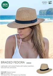 Picture of GILLY O COLLECTION - BRAIDED FEDORA