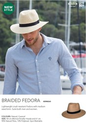 Picture of MADE FOR MEN - BRAIDED FEDORA