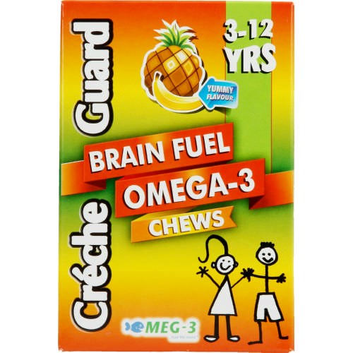 Picture of CRECHE GUARD - BRAIN FUEL OMEGA-3 CHEWS - 3-12 YEARS - 60 CHEWS
