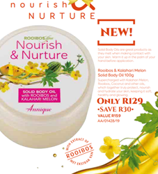 Picture of ANNIQUE NOURISH & NURTURE - KALAHARI MELON SOLID BODY OIL