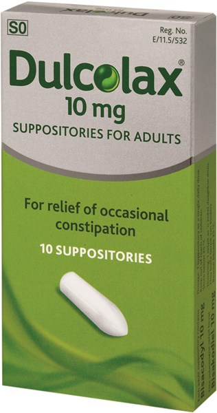 Picture of DULCOLAX SUPPOSITRIES - 10'S