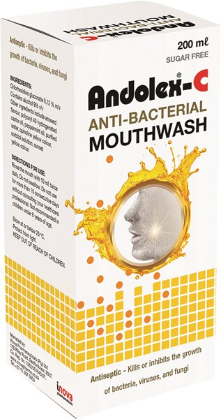Picture of ANDOLEX-C ANTI-BACTERIAL MOUTHWASH - 200ML