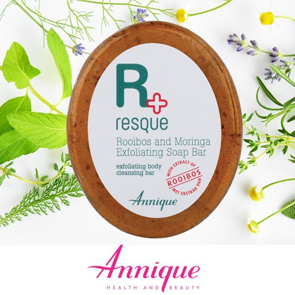 Picture of ANNIQUE RESQUE - ROOIBOS AND MORINGA EXFOLIATING SOAP BAR