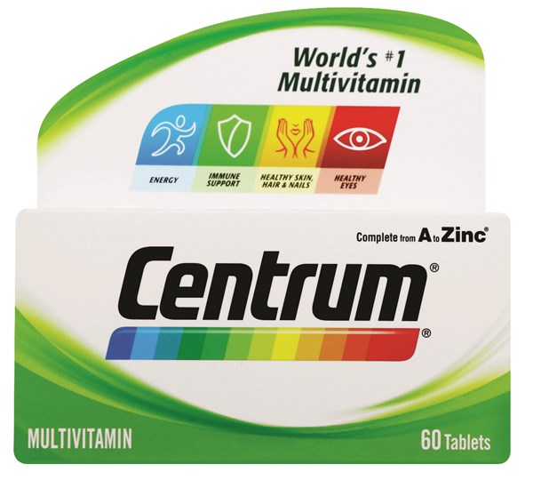Picture of CENTRUM ADULT MULTIVITAMIN TABLETS - 60'S
