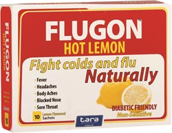 Picture of FLUGON HOT LEMON  COLD&FLU SACHETS - 10'S