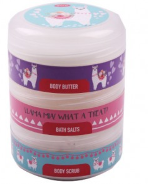 Picture of JENAM LLAMA STACK PACK - BODY BUTTER, BODDY SCRUB & BATH SALTS