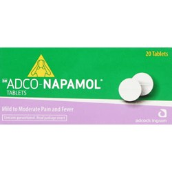 Picture of ADCO-NAPAMOL TABLETS - 20'S