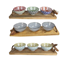 Picture of WOODEN TRAY WITH 3 WHITE BOWLS, Picture 2