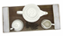Picture of WHITE TEA SET ON WOODEN TRAY, Picture 1