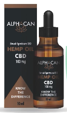 Picture of ALPHA CAN CBD HEMP OIL 100mg - 10ml