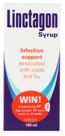 Picture of LINCTAGON COLD & FLU INFECTION SUPPORT - 150ML