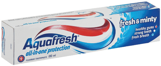 Picture of AQUAFRESH TOOTHPASTE ASSORTED - 100ML