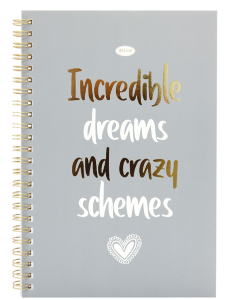 Picture of INSPIRE - NOTEBOOK - INCREDIBLE DREAMS AND CRAZY SCHEMES