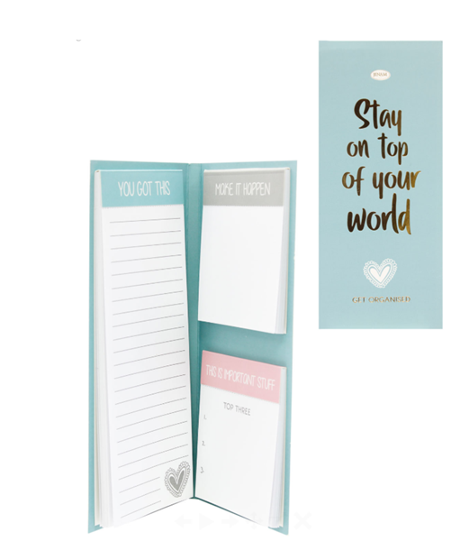 Picture of INSPIRE - NOTEPAD SET - STAY ON TOP OF YOU WORLD