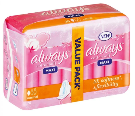 Picture of ALWAYS MAXI SOFT NORMAL DUO 20'S