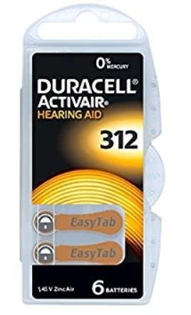 Picture of DURACELL HEARING AID BATTERIES - 6'S