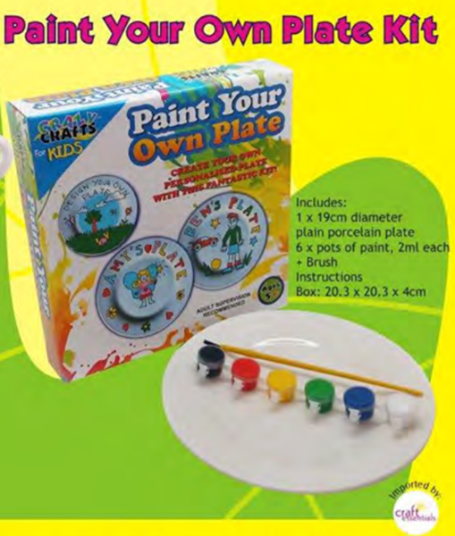 Picture of CRAZY CRAFTS - PAINT YOUR OWN PLATE