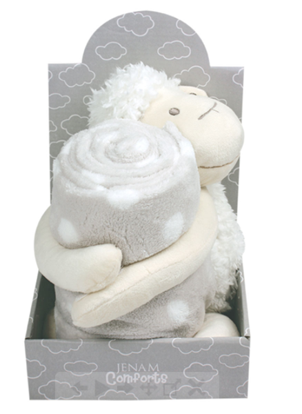 Picture of PLUSH SHEEP WITH BLANKET