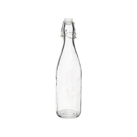 Picture of GLASS WATER BOTTLE WITH CLIP TOP 500ML