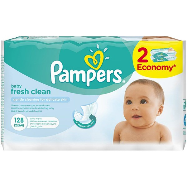 Picture of PAMPERS BABY WIPES REFILL - 64'S