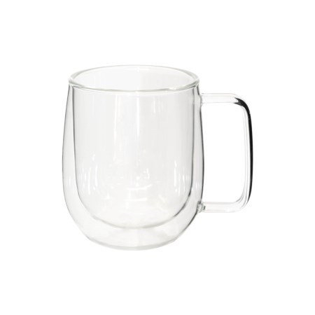 Picture of DOUBLE WALLED COFFEE MUG WITH HANDLE - GLASS