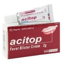 Picture of ACITOP FEVER BLISTER CREAM - 2G